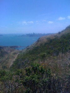 View of San Francisco from the Coastal Trail/ SCA trail intersection
