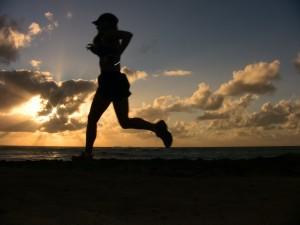 Jen runs in Hawaii