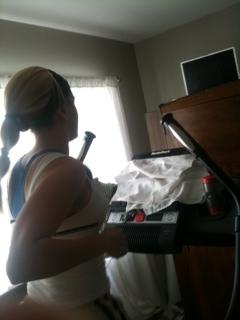 Ebony Topless On Treadmill 66