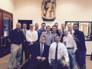 Bub's whole football team reunited at his funeral.